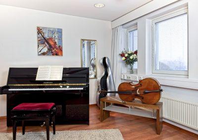 Musiikkikoulu PiaCellon pianoluokka Palokassa, Jyväskylä.